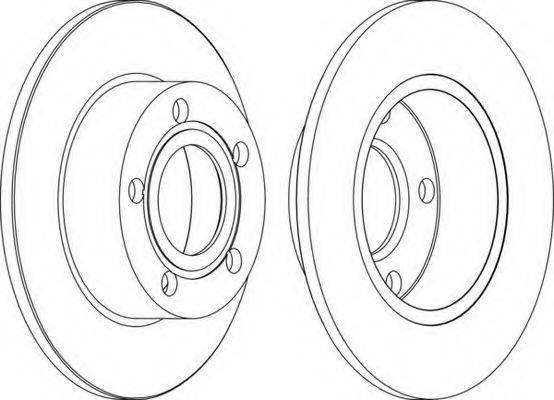 FERODO DDF1033 Тормозной диск