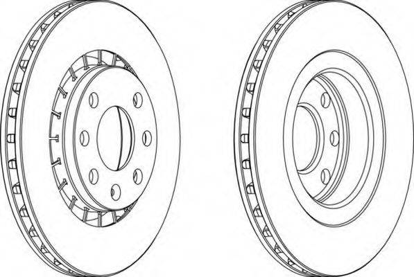 FERODO DDF206 Тормозной диск