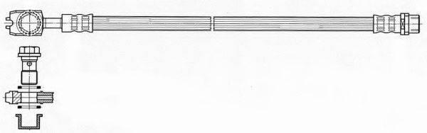 FERODO FHY2547 Тормозной шланг