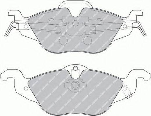 FERODO FSL1293 Комплект тормозных колодок, дисковый тормоз