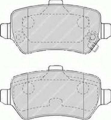 FERODO FSL1521 Комплект тормозных колодок, дисковый тормоз