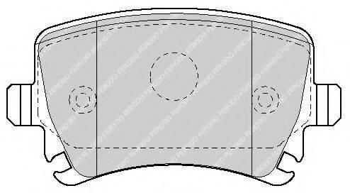 FERODO FSL1636 Комплект тормозных колодок, дисковый тормоз