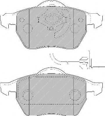 FERODO FSL1717 Комплект тормозных колодок, дисковый тормоз
