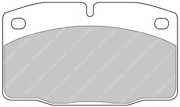 FERODO FSL173 Комплект тормозных колодок, дисковый тормоз