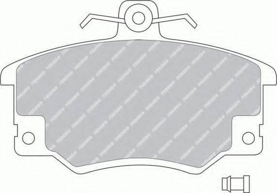 FERODO FSL370 Комплект тормозных колодок, дисковый тормоз