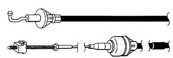 FERODO FCC421116 Трос, управление сцеплением