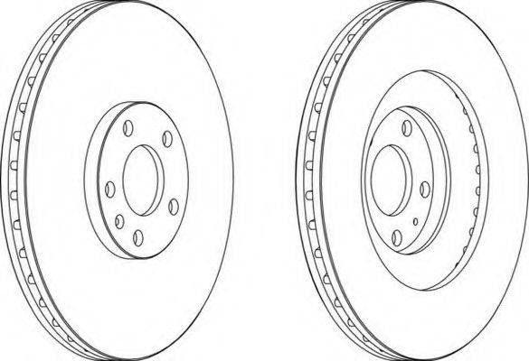 FERODO DDF1661C1 Тормозной диск