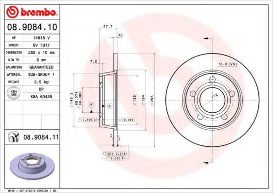 BREMBO 08908411 Тормозной диск