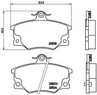 BREMBO P23017 Комплект тормозных колодок, дисковый тормоз