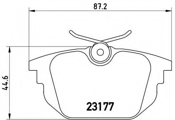 BREMBO P23026 Комплект тормозных колодок, дисковый тормоз