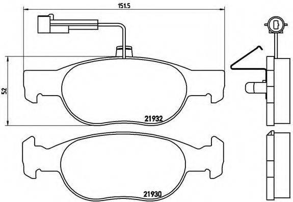 BREMBO P23113 Комплект тормозных колодок, дисковый тормоз