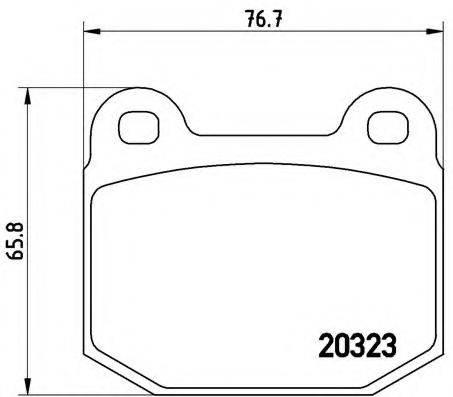 BREMBO P59004 Комплект тормозных колодок, дисковый тормоз
