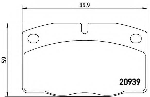 BREMBO P59005 Комплект тормозных колодок, дисковый тормоз
