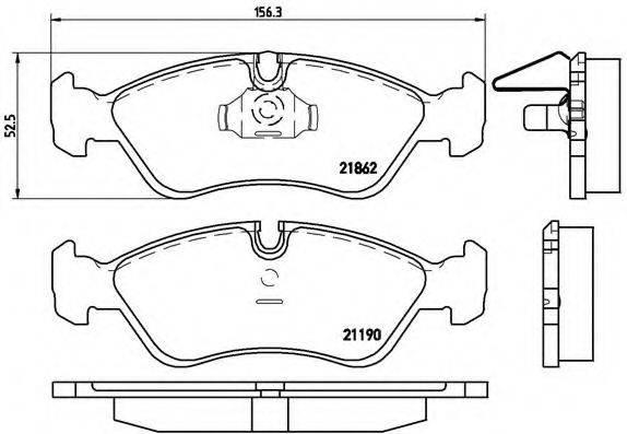 BREMBO P59017 Комплект тормозных колодок, дисковый тормоз