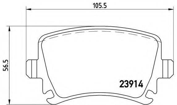 BREMBO P85073 Комплект тормозных колодок, дисковый тормоз