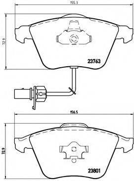 BREMBO P85084 Комплект тормозных колодок, дисковый тормоз