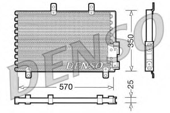 DENSO DCN01001 Конденсатор, кондиционер