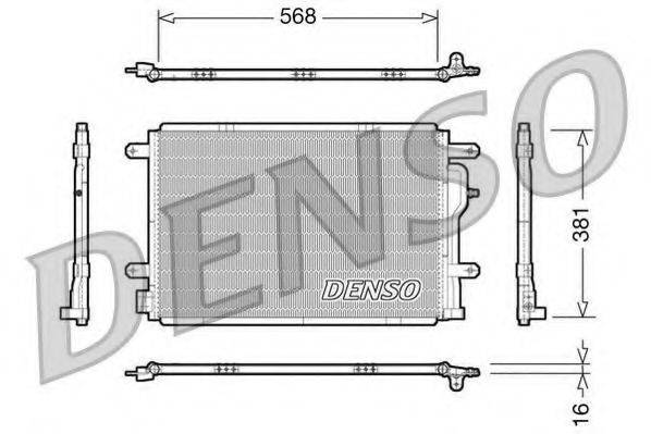 DENSO DCN02004 Конденсатор, кондиционер