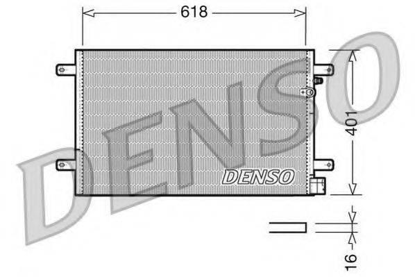 DENSO DCN02006 Конденсатор, кондиционер