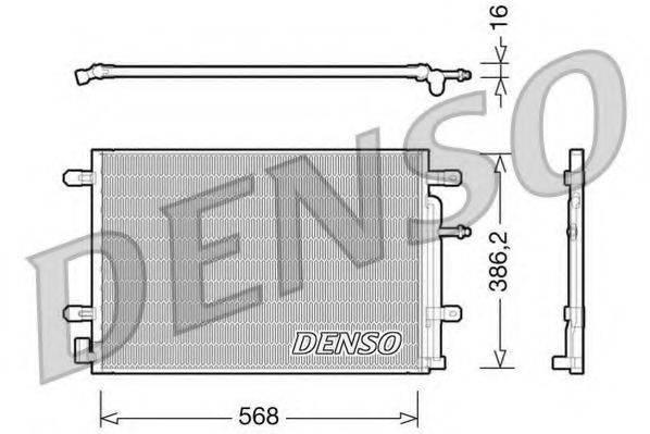 DENSO DCN02018 Конденсатор, кондиционер