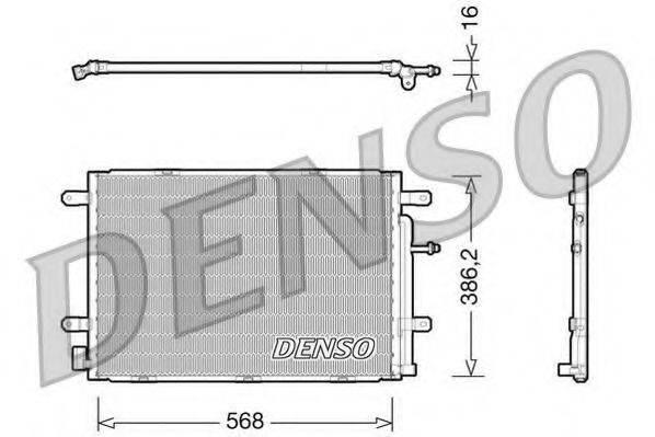 DENSO DCN02019 Конденсатор, кондиционер