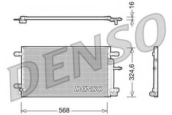 DENSO DCN02020 Конденсатор, кондиционер