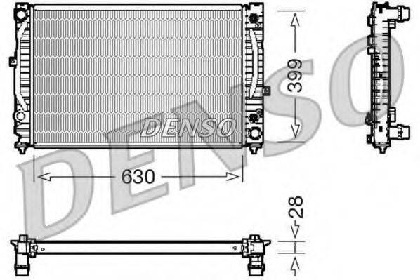 DENSO DRM02031 Радиатор, охлаждение двигателя