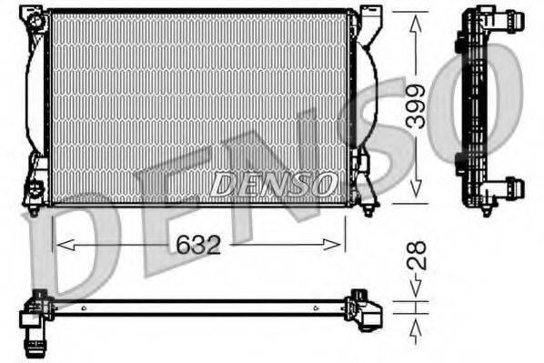 DENSO DRM02033 Радиатор, охлаждение двигателя