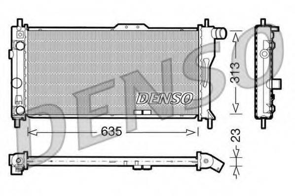 DENSO DRM20034 Радиатор, охлаждение двигателя