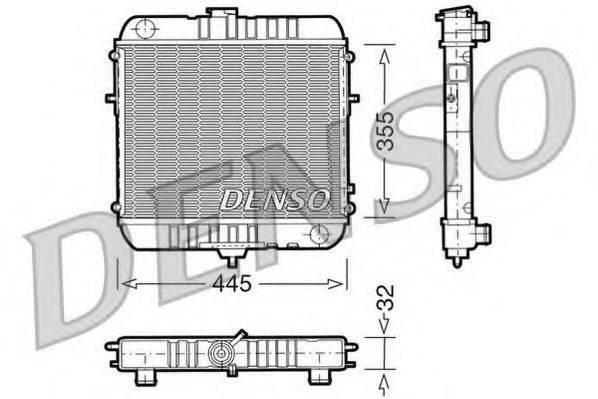 DENSO DRM20072 Радиатор, охлаждение двигателя