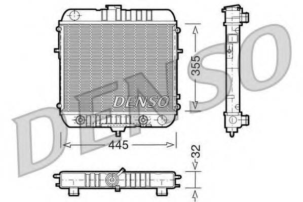 DENSO DRM20073 Радиатор, охлаждение двигателя