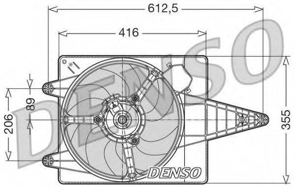 DENSO DER01004 Вентилятор, охлаждение двигателя