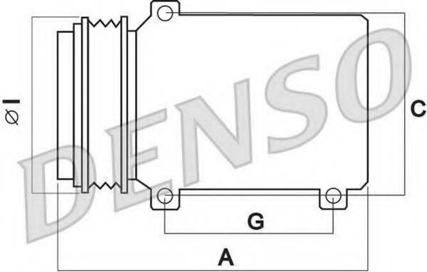 DENSO DCP02052 Компрессор, кондиционер
