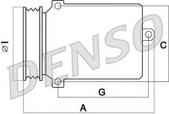 DENSO DCP02038 Компрессор, кондиционер