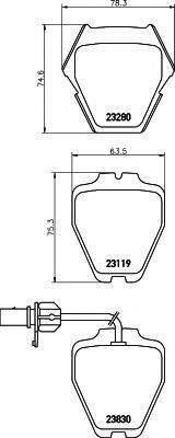 MINTEX MDB2358 Комплект тормозных колодок, дисковый тормоз