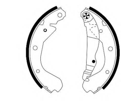 MINTEX MFR179 Комплект тормозных колодок