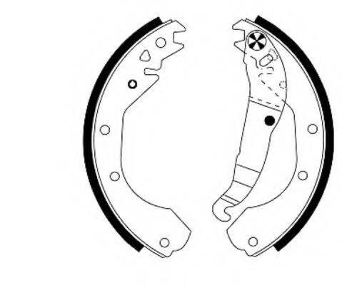 MINTEX MFR181 Комплект тормозных колодок