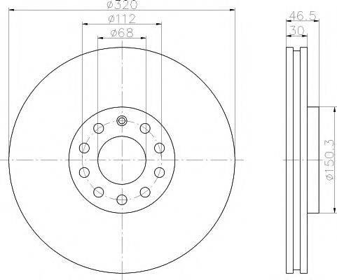 MINTEX MDC1444 Тормозной диск