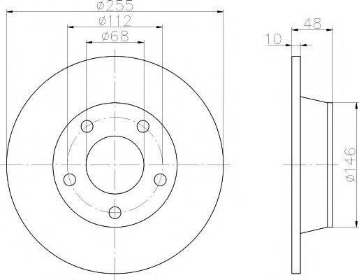 MINTEX MDC1462 Тормозной диск