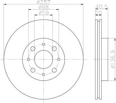 MINTEX MDC615 Тормозной диск