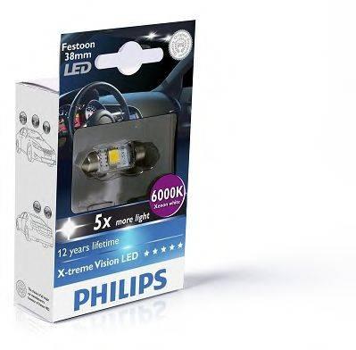 PHILIPS 128596000KX1 Лампа накаливания, oсвещение салона; Лампа накаливания, фонарь установленный в двери; Лампа накаливания, фонарь освещения багажника; Лампа накаливания, подкапотная лампа; Лампа накаливания; Лампа, страховочное освещение двери; Лампа, освещение ящика для перчаток; Лампа, лампа чтения; Лампа, входное освещение