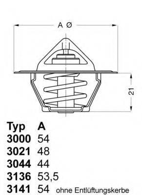 WAHLER 302188D50 Термостат, охлаждающая жидкость