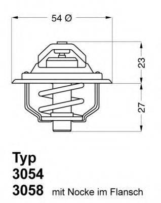 WAHLER 305487D50 Термостат, охлаждающая жидкость