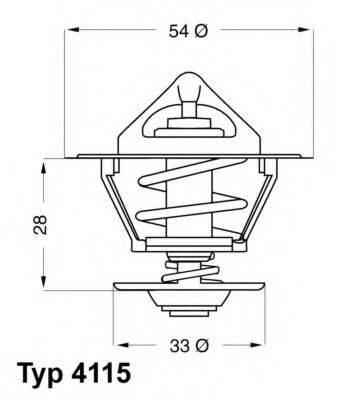WAHLER 411592D Термостат, охлаждающая жидкость