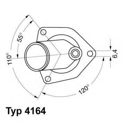 WAHLER 416492D Термостат, охлаждающая жидкость