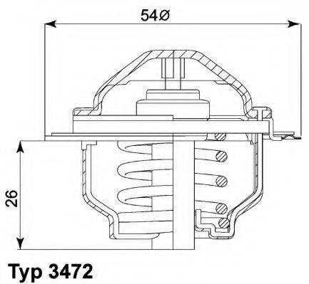 WAHLER 347287D Термостат, охлаждающая жидкость