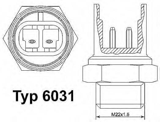 WAHLER 603192D Термовыключатель, вентилятор радиатора