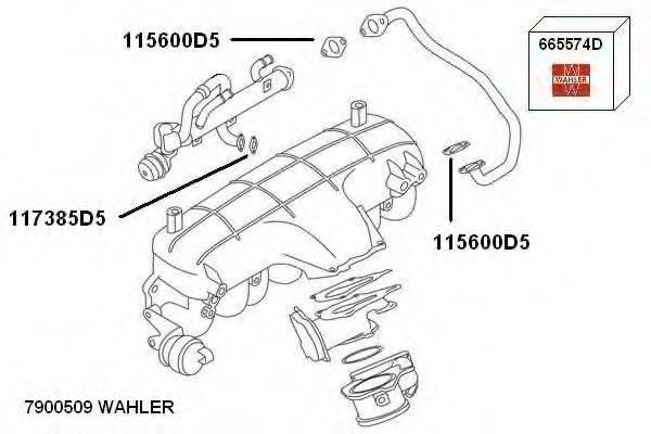 WAHLER 7900509 Рециркуляция ОГ