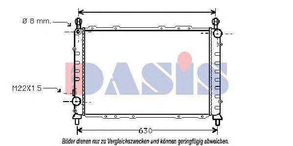 AKS DASIS 010250N Радиатор, охлаждение двигателя