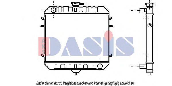 AKS DASIS 150028N Радиатор, охлаждение двигателя
